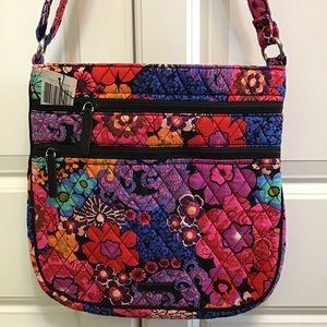 Vera Bradley triple zip hipster floral fiesta